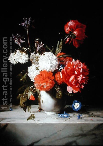 Floral Still Life, 1671 by Dirck de Bray - Reproduction Oil Painting