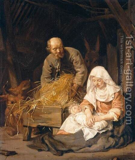 The Holy Family by Jan De Bray - Reproduction Oil Painting
