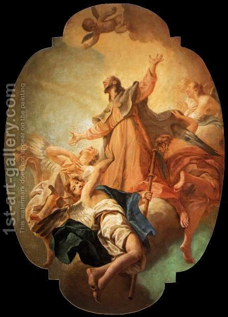 St Roch in Glory c. 1754 by Giuseppe Angeli - Reproduction Oil Painting