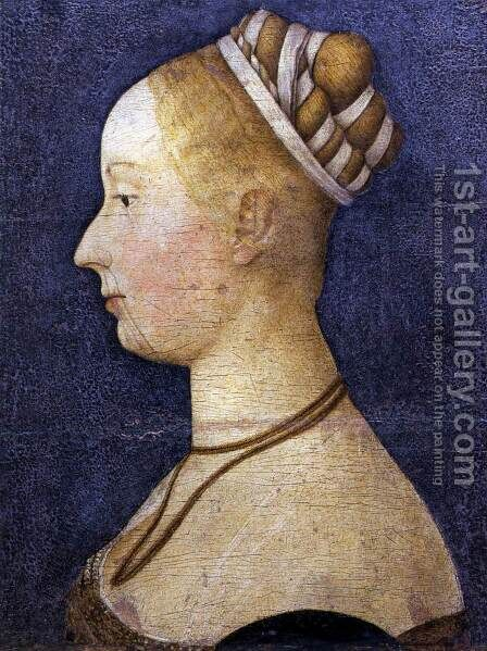 Small Female Portrait by Angelo Da Siena - Reproduction Oil Painting