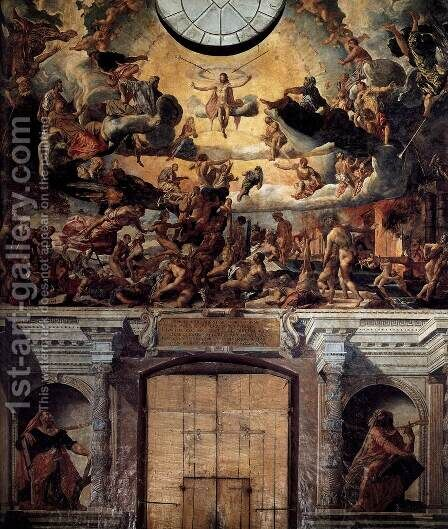 The Last Judgment 1561 by Dirck Barendsz. - Reproduction Oil Painting