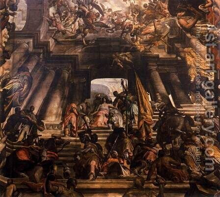 Martyrdom and Glory of St Pantaleon 1684-1704 by Giovanni Antonio Fumiani - Reproduction Oil Painting
