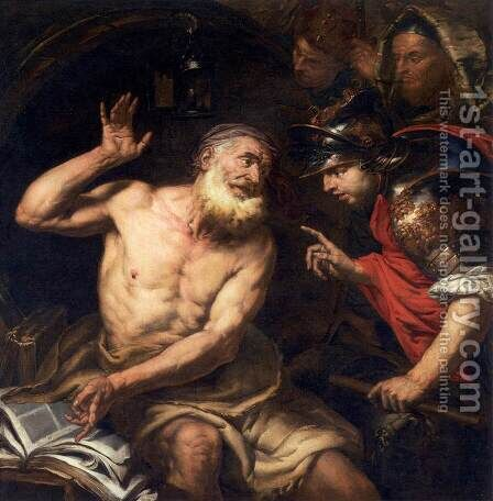 Diogenes and Alexander c 1650 by Giovanni Battista Langetti - Reproduction Oil Painting