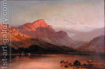 Evening in the Trossachs by Alfred de Breanski - Reproduction Oil Painting