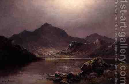 Mount Snowden by Alfred de Breanski - Reproduction Oil Painting
