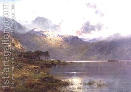 Near Inversnaid, after the rain by Alfred de Breanski - Reproduction Oil Painting