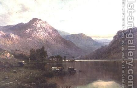 The Head of Loch Lomond by Alfred de Breanski - Reproduction Oil Painting