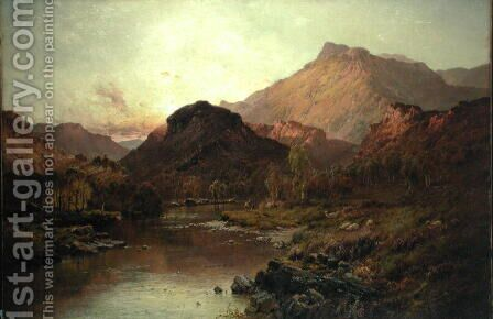 Valley of Ben Nevis by Alfred de Breanski - Reproduction Oil Painting