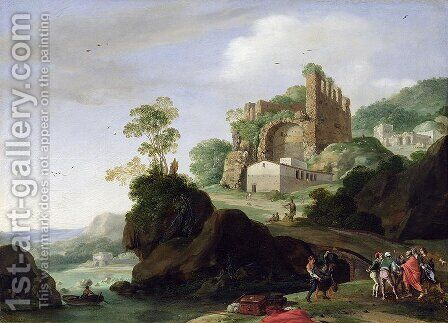 St. Peter and St. John in a Landscape with Ruins, c.1625 by Bartholomeus Breenbergh - Reproduction Oil Painting