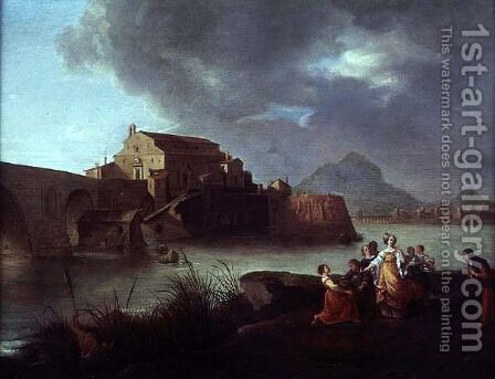 The Finding of Moses by Bartholomeus Breenbergh - Reproduction Oil Painting
