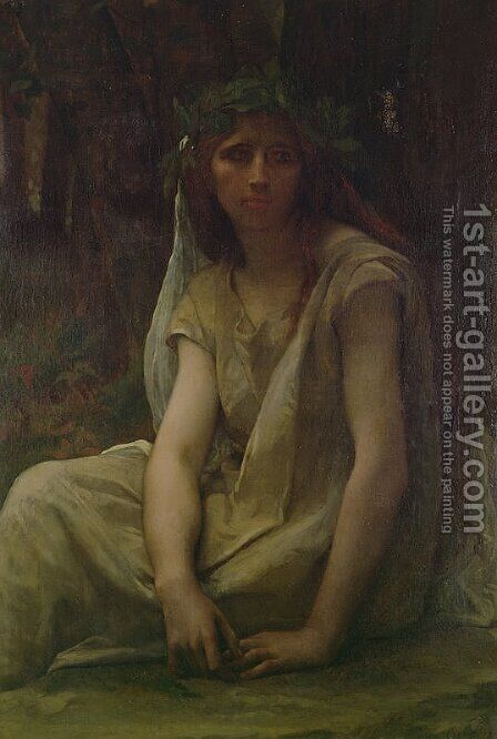 A Druidess 1868 by Alexandre Cabanel - Reproduction Oil Painting