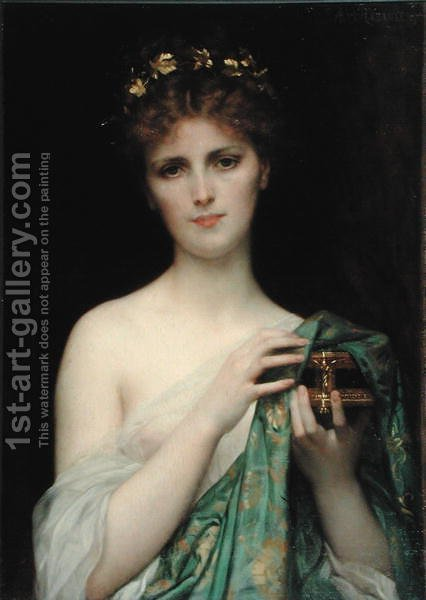 Pandora 1873 by Alexandre Cabanel - Reproduction Oil Painting