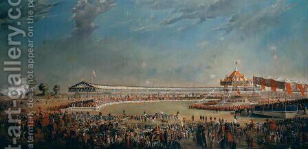Delhi Durbar, celebration on the occasion of Queen Victoria becoming Empress of India, 1877 by Alexander Caddy - Reproduction Oil Painting