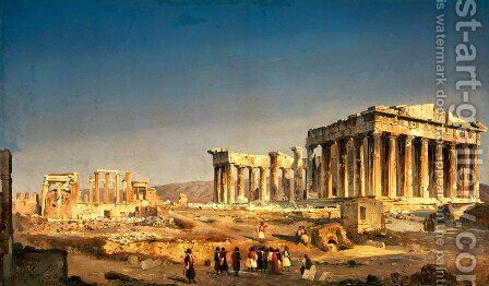 The Parthenon, 1863 by Ippolito Caffi - Reproduction Oil Painting