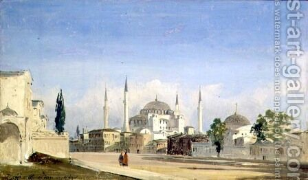 Haghia Sophia, Constantinople, 1843 by Ippolito Caffi - Reproduction Oil Painting