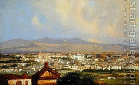 View of Rome from Montemario by Ippolito Caffi - Reproduction Oil Painting