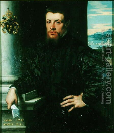 Melchior von Brauweiler (1515-69) 1540 by Jan Steven van Calcar - Reproduction Oil Painting