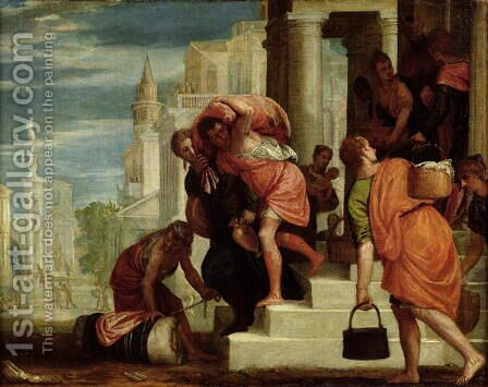 The Flight of the Israelites out of Egypt by Benedetto Caliari - Reproduction Oil Painting