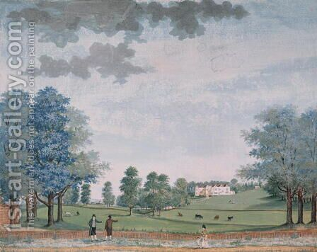 The Great House and Park at Chawton, c.1780 by Adam Callander - Reproduction Oil Painting