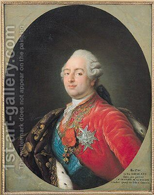 Louis XVI (1754-93) 1786 by Antoine-Francois Callet - Reproduction Oil Painting