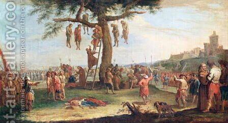 The Hanging, from the 'Miseries and Misfortunes of War' series by Claude Callot - Reproduction Oil Painting
