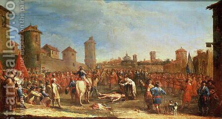 Torture on The Wheel, from the 'Miseries and Misfortunes of War' series by Claude Callot - Reproduction Oil Painting