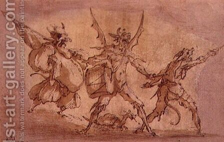 Devil Musketeers by Jacques Callot - Reproduction Oil Painting