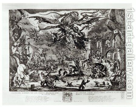 The Temptation of St. Anthony by Jacques Callot - Reproduction Oil Painting