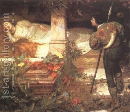 Sleeping Beauty by Edward Frederick Brewtnall - Reproduction Oil Painting