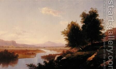 Saco River, Mount Washington, 1861 by Alfred Thompson Bricher - Reproduction Oil Painting