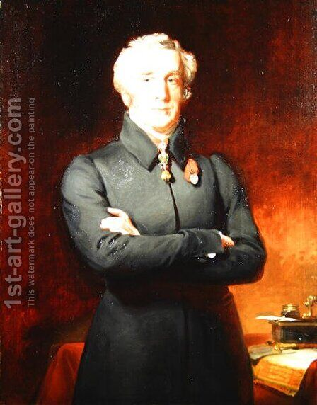 Portrait of Arthur Wellesley (1769-1852) Duke of Wellington by Henry Perronet Briggs - Reproduction Oil Painting