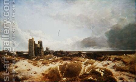 Orford Castle 1856 by Henry Bright - Reproduction Oil Painting