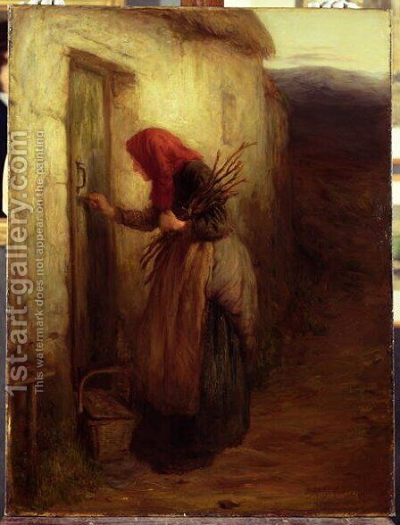 A Lonely Life, c.1873 by Hugh Cameron - Reproduction Oil Painting