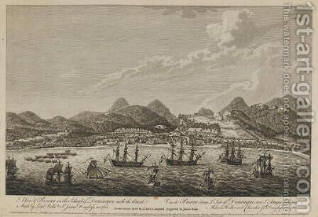 View of Roseau in the Island of Dominique, with the 1760 attack made by Lord Rollo and Sir James Douglas 1761 (2) by Archibald Campbell - Reproduction Oil Painting
