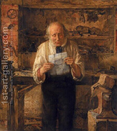 News from my Lad, 1859 by James Campbell - Reproduction Oil Painting