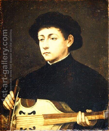 Portrait of a Musician by Giulio Campi - Reproduction Oil Painting
