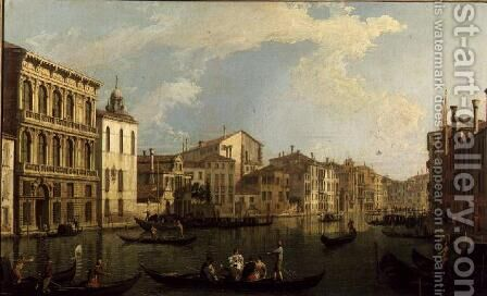 Venice- the Grand Canal from the Palazzo Flangini to S. Marcuolo by (Giovanni Antonio Canal) Canaletto - Reproduction Oil Painting