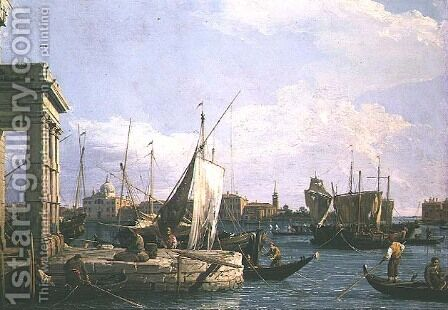 The Punta della Dogana, 1730 by (Giovanni Antonio Canal) Canaletto - Reproduction Oil Painting