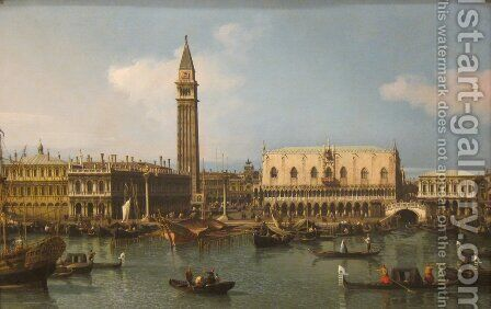 The Molo from the Bacino di San Marco, Venice, 1747-50 by (Giovanni Antonio Canal) Canaletto - Reproduction Oil Painting