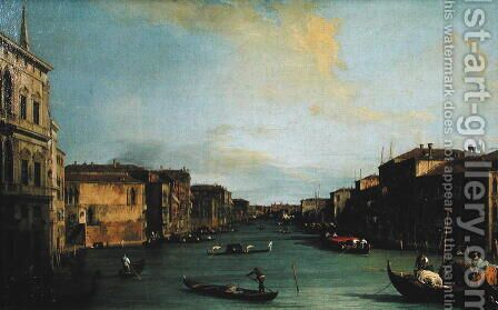 View of The Grand Canal from the Rialto Bridge by (Giovanni Antonio Canal) Canaletto - Reproduction Oil Painting