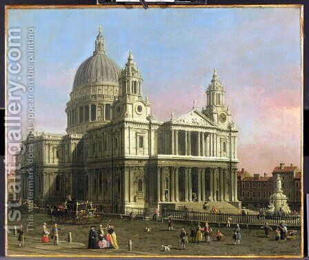 St. Paul's Cathedral, 1754 by (Giovanni Antonio Canal) Canaletto - Reproduction Oil Painting