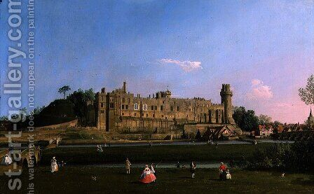 Warwick Castle, c.1748-49 by (Giovanni Antonio Canal) Canaletto - Reproduction Oil Painting