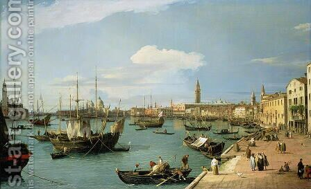 The Riva degli Schiavoni, looking West by (Giovanni Antonio Canal) Canaletto - Reproduction Oil Painting