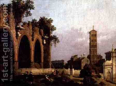 The Basilica of Massenlio by (Giovanni Antonio Canal) Canaletto - Reproduction Oil Painting