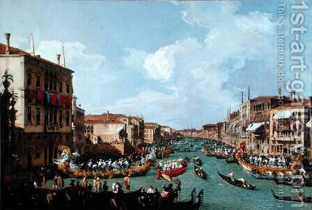 Regatta on the Grand Canal by (Giovanni Antonio Canal) Canaletto - Reproduction Oil Painting