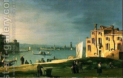 View of Venice 2 by (Giovanni Antonio Canal) Canaletto - Reproduction Oil Painting