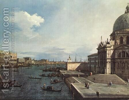 The Entrance to the Grand Canal, Venice by (Giovanni Antonio Canal) Canaletto - Reproduction Oil Painting