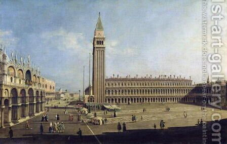 Piazza San Marco, Venice (3) by (Giovanni Antonio Canal) Canaletto - Reproduction Oil Painting