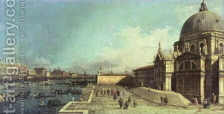 The entrance to the Grand Canal, Venice with the Church of Santa Maria della Salute by (Giovanni Antonio Canal) Canaletto - Reproduction Oil Painting