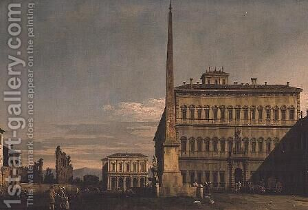 Piazza di San Giovanni in Latero, Rome by (Giovanni Antonio Canal) Canaletto - Reproduction Oil Painting